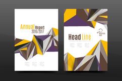 3d triangle shapes. Business annual report cover. A4 size presentation flyer or corporate correspondence report Stock Illustration