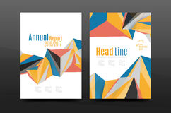 3d triangle shapes. Business annual report cover. A4 size presentation flyer or corporate correspondence report Stock Image
