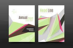 3d triangle shapes. Business annual report cover. A4 size presentation flyer or corporate correspondence report Stock Photos