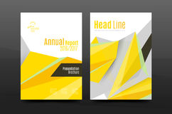 3d triangle shapes. Business annual report cover. A4 size presentation flyer or corporate correspondence report Vector Illustration