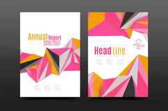 3d triangle shapes. Business annual report cover. A4 size presentation flyer or corporate correspondence report Royalty Free Stock Images