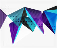 3d triangles geometric vector. Abstract background. Empty modern illustration for your message, text slogan or presentation wallpaper stock illustration