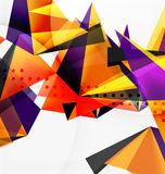 3d triangles geometric vector. Abstract background. Empty modern illustration for your message, text slogan or presentation wallpaper Stock Photos