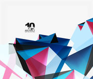 3d triangles geometric vector. Abstract background. Empty modern illustration for your message, text slogan or presentation wallpaper Stock Images