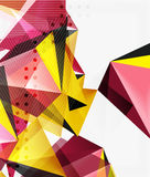 3d triangles geometric vector. Abstract background. Empty modern illustration for your message, text slogan or presentation wallpaper Royalty Free Stock Photos