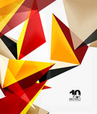 3d triangles geometric vector Royalty Free Stock Image