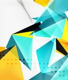 3d triangles geometric vector Stock Image