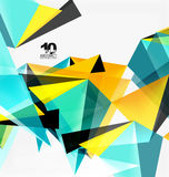 3d triangles geometric vector Stock Photos