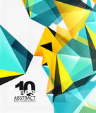 3d triangles geometric vector Royalty Free Stock Photography