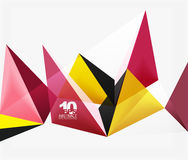 3d triangles geometric vector Royalty Free Stock Photo