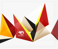 3d triangles geometric vector Stock Photo