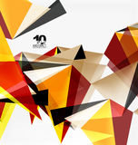 3d triangles geometric vector Stock Images