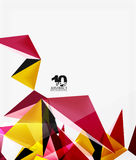 3d triangles geometric vector Stock Photography