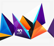 3d triangles geometric vector Stock Photo