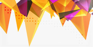 3d triangles geometric vector Royalty Free Stock Images
