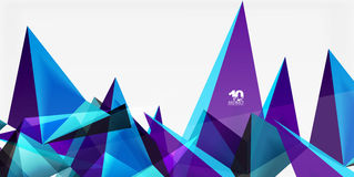 3d triangles geometric vector Royalty Free Stock Photos