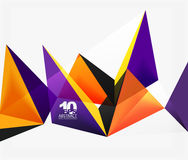 3d triangles geometric vector. Abstract background. Empty modern illustration for your message, text slogan or presentation wallpaper Royalty Free Stock Image