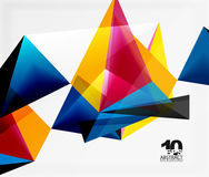 3d triangles geometric vector. Abstract background. Empty modern illustration for your message, text slogan or presentation wallpaper Vector Illustration