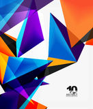 3d triangles geometric vector. Abstract background. Empty modern illustration for your message, text slogan or presentation wallpaper Royalty Free Illustration