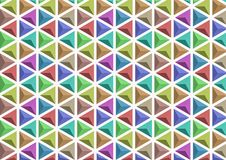 3D triangle of color variations royalty free stock image