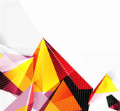 3d triangles and pyramids, abstract geometric vector Stock Photos
