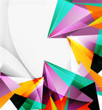 3d triangles and pyramids, abstract geometric vector Royalty Free Stock Images