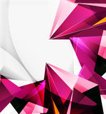 3d triangles and pyramids, abstract geometric vector Stock Images