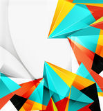 3d triangles and pyramids, abstract geometric vector Stock Photo