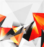 3d triangles and pyramids, abstract geometric vector Royalty Free Stock Photography