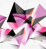 3d triangles and pyramids, abstract geometric vector Royalty Free Stock Photos