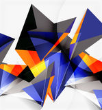 3d triangles and pyramids, abstract geometric vector Stock Photography