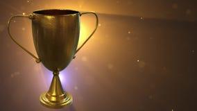 3D Trofee Gouden 3D illustratie vector illustratie