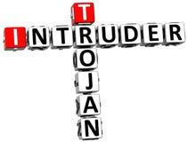 3D Trojan Intruder Crossword Stock Photos