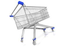 3D trolley basket isolated Stock Photos