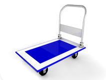 3d trolley. Illustration of blue 3d trolley Royalty Free Stock Photos