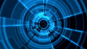 2D Tron Round Tunnel Portal Vortex Blue Color. Alpha Channel Transparency included stock video footage