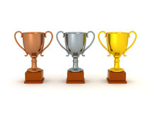 3D Trophies Royalty Free Stock Photos