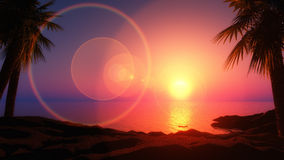 3D tropical island Stock Photography