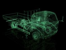 3d truck. Stock Images