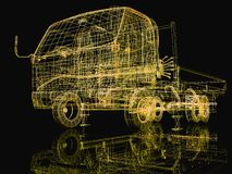 3d truck Royalty Free Stock Photography
