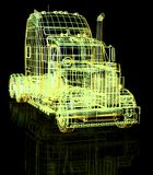 3d truck Royalty Free Stock Photo