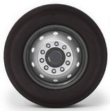 3d truck wheel and tire. On white background 3D illustration Stock Photo