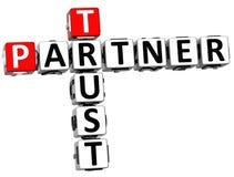 3D Trust Partner Crossword. On white background Stock Photo