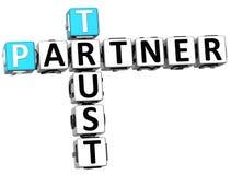 3D Trust Partner Crossword Stock Photos