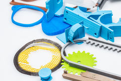 3D tryckbar saker, ändring för utbyte för tryckcolectbyggande Arkivbilder