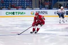 D Tsiganov (10) dribbling Fotografering för Bildbyråer