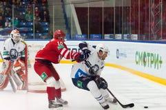 d Tsyganov (10) gegen M Popovic (6) Lizenzfreies Stockbild