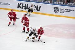 d Tsyganov ( 10) contra Y Trubachyov ( 15) Imagens de Stock