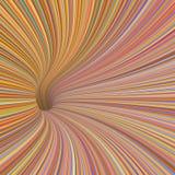 3d tunnel vortex in orange pink Stock Photography