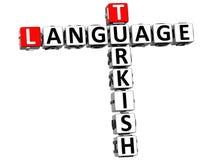 3D Turecki Językowy Crossword Ilustracja Wektor